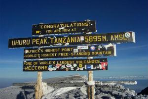 Uhuru peak- toppen af Kilimanjaro