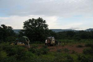 camping på sletten i afrika