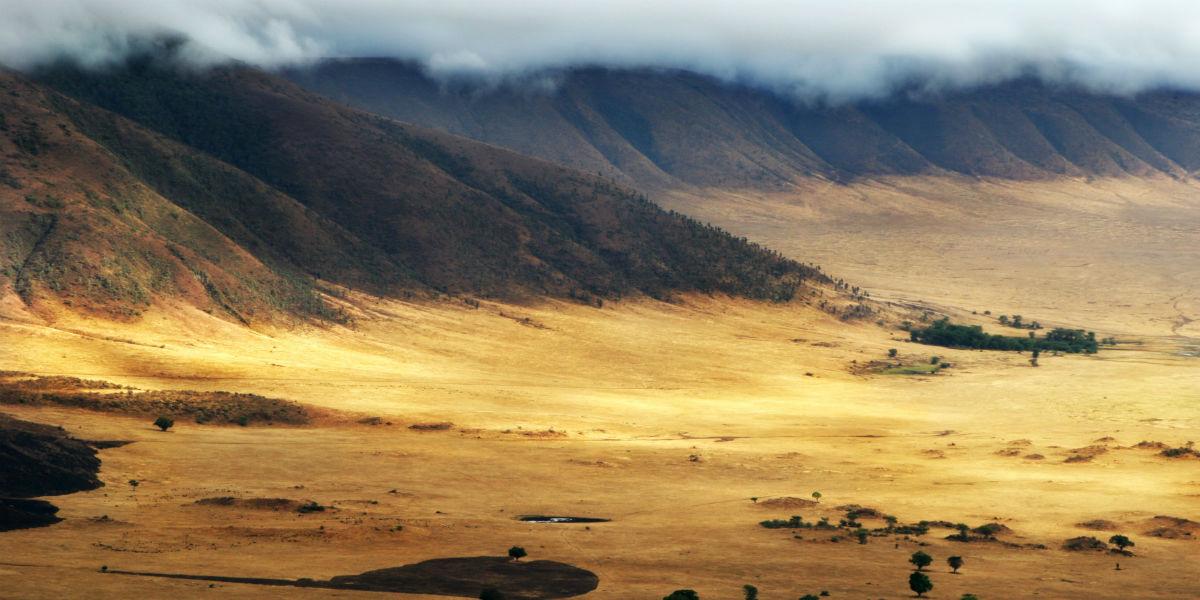 Ngorongoro krater i tanzania