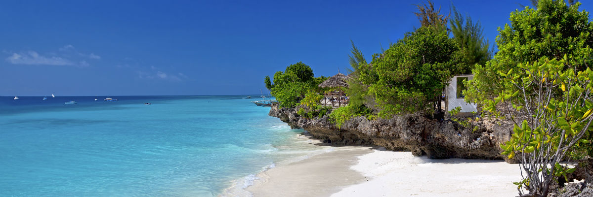 Zanzibar strand i Tanzania